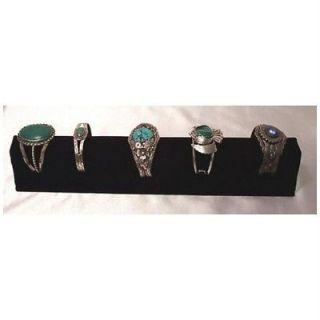 Long Black Velvet Cuff Bracelet Display Jewelry Tray 14 Deluxe