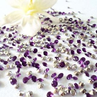 5000 Purple&Silver Diamond Confetti Wedding Decoration