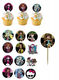 Monster High Cupcake Picks / cupcake toppers/ cake toppers #1 12