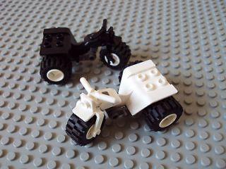 Lego Minifig ~ Lot Of 2 ATV Motorcycles / 3 Wheeler Trike #qserxc