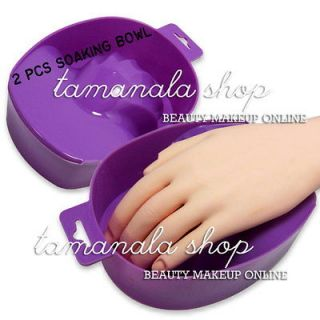 Pcs PURPLE SOAKING SOAK BOWL TRAY NAIL ART REMOVER Salon Treatment