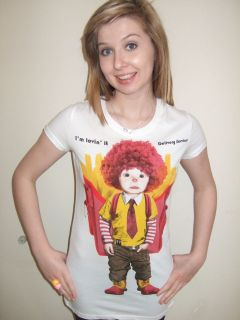 BNWT KITSCH ALTERNATIVE CUTE RONALD McDONALD BOY TOP/ T SHIRT UK SIZE