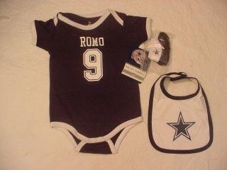 NWT TONY ROMO DALLAS COWBOY ONESIE BABY JERSEY 24 M MO
