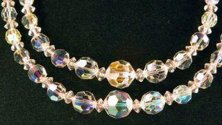 Designer Signed Laguna Austrian Crystal Necklace & Drop Clip Earrings