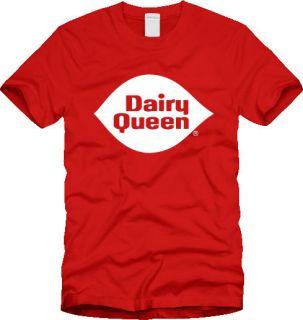 Retro DAIRY QUEEN T SHIRT logo vintage ice cream sundae fudge NEW