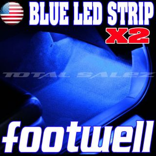 2X BLUE LED FOOTWELL DASH LIGHT KIT INTERIOR OR EXTERIOR (Fits 2005
