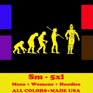 EVOLUTION star wars toy jedi darth vader T Shirt MENS BLACK LARGE