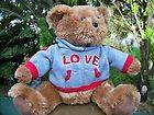 Beautiful Plush XTRA SOFT Dan Dee Collectors Choice LOVE Teddy Bear