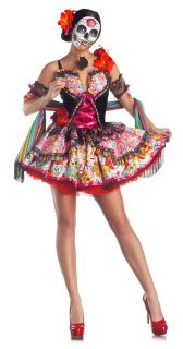 Day of the Dead Dia de los Muertos Costume Mexico Skull Mask Dress