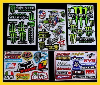 Sheets Stickers Motocross Bike Scooter boys supercross energy drink