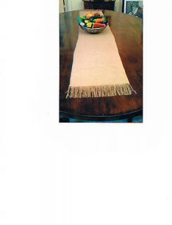 Burlap Table Runner With Fringe 13 x 72 For Weddings & Home Deocor