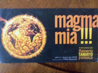MAGMA MIA,PINTURAS DE REINERIO TAMAYO FONSECA,PLEGABLE,CUBA,ARTE,ART