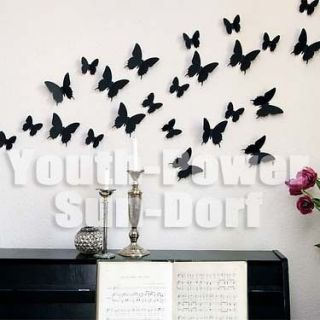 10pcs butterflies wall sticker sticers 3D Effect home decor 5x5cm cute