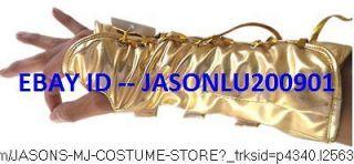 CLASSIC MICHAEL JACKSON DANGEROUS ARMBRACE GOLD ARMCAST MJ COSTUME