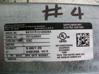 TRANE / AMERICAN STANDARD Supplementary Electric Heater