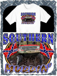 CHEVROLET LIFTED 4X4 TRUCK SOUTHERN MUDDIN BOGGING PRINTED T SHIRT
