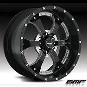 BMF NOVAKANE 18x9 0 offset Death Metal Black 6x5.5, 6x135 ,8x170