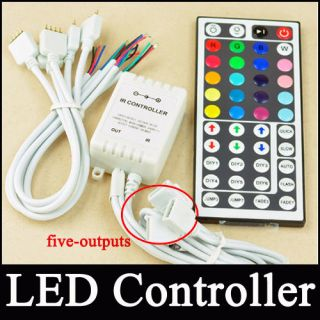 44 Key IR Remote Controller For RGB 5050 LED Light Strip Five outputs