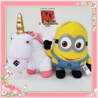 Despicable Me Minions Dave Unicorn 2X Plush Toy Stuffed Animal Fluffy