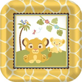 Lion King DESSERT LUNCH PLATES Baby Shower Boy or Girl Sweet Circle of