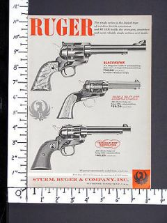 1958 RUGER 44 Magnum Blackhawk Bearcat Single Six Revolvers magazine