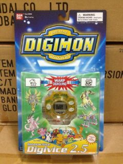 BANDAI DIGIMON MONSTERS DIGIVICE 2.5 YELLOW GAME NEW RARE