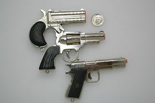 Cap Guns Metal Derringer Wild West AND 45 Special SET of THREE(3