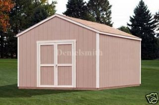 Loren 12 X 20 Wood Shed