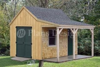 12 x 12 Cottage / Cabin Shed Plans / Blueprints 81212