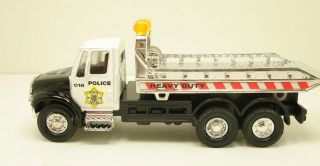 Flat bed rollback POLICE tow truck diecast 5.5 model black