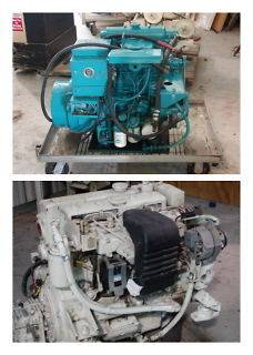Two Marine 4 cylinder diesel engines and One 2 cylinder diesel
