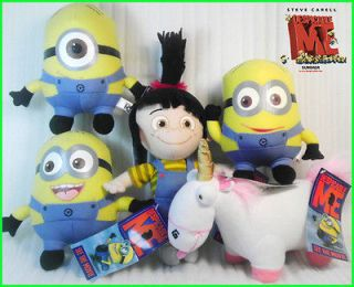 5X Despicable Me Minion Unicorn Fan Souvenirs Plush Toy Stuffed Animal