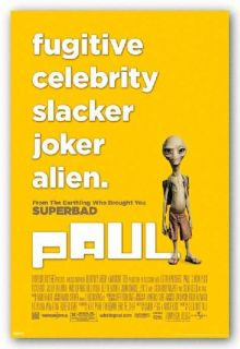 Paul Movie Poster   Attributes Fugitive Celebrity Alien