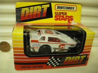 MATCHBOX 1993 RARE SERIES 2 DIRT MODIFIED RACE CAR #1 PLAZEK MINT IN