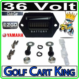 36 Volt Golf Cart Digital LED Battery State of Charge Indicator Meter