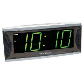 Super Loud 1.8 inch Green LED Alarm Clock