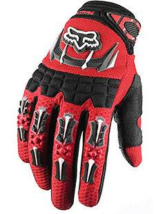 Red Cycling Dirt Bike Mountain Bicycle Full Finger Motorcycle Gloves L