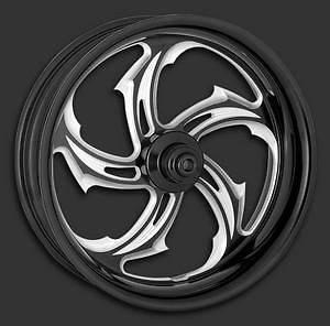 Performance Machine Rival Contrast Cut Wheel Rear 18x4.25 Blk Ano H D