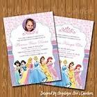 Disney Princess DIY Printable Birthday Photo Invitation