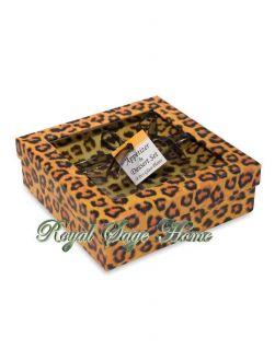 APP305 NIB 7.5 Leopard Spot Animal Print Jungle Safari Dessert Dish
