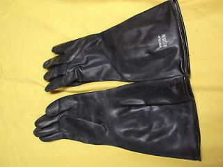 RUBBER GLOVES BLACK 1 PAIR 14 INCHES LONG SIZE SMALL IRREGULAR