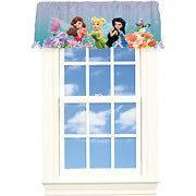 Disney FAIRIES Tinkerbell Window VALANCE Curtain Panel 4 Girls Room