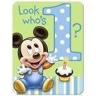Disney Babies Mickey Mouse 1st Birthday INVITATIONS x24
