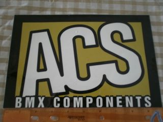 ACS OLD SCHOOL BMX BIKE SK8 RAMP SHOP STICKER +8 OTHERS