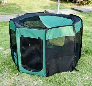 Pet Pen Fence Portable Folding Tent Dog Cat Exercise Playpen 8 Panels