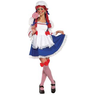 Rag Doll Adult Womens Sexy Raggedy Andy Halloween Costume