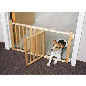 Paws Walk Over Wooden Dog Cat Pet Expandable Safety Gate with Door NEW