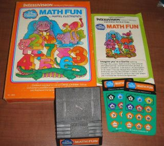 Math Fun for Intellivision Complete FAST SHIPPING