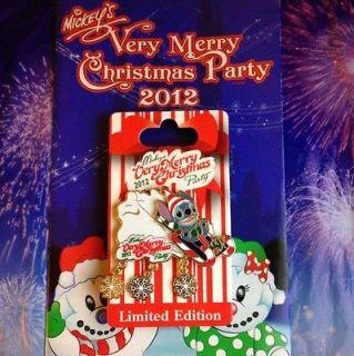 Disney pin Mickeys Very Merry Christmas Party 2012 Stitch .