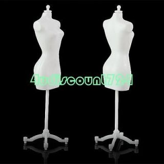 PLASTIC MINI DOLL MANNEQUIN TOYS DISPLAY MODEL STAND FOR BARBIE DRESS
